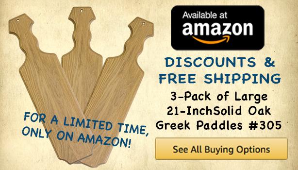 Greek Paddles Wooden Greek Letters For Fraternities Sororities