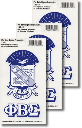 Phi Beta Sigma Decals | Fraternity Crest
